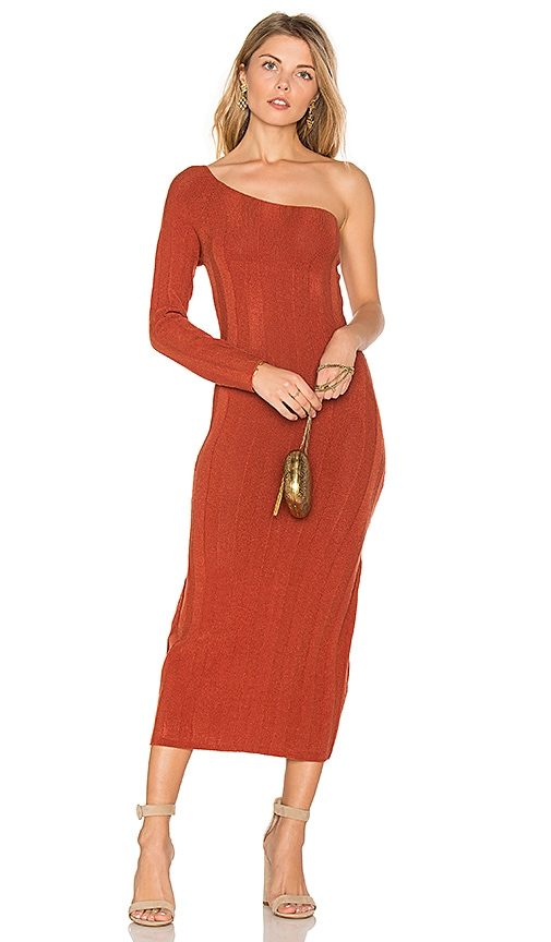 TROIS Stam Knit Dress in Orange
