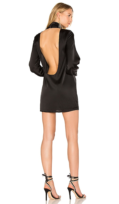 TROIS Beverly Silk Dress in Black