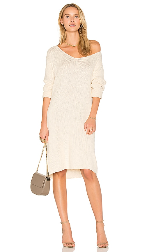 TROIS Daria Knit Dress in Brown