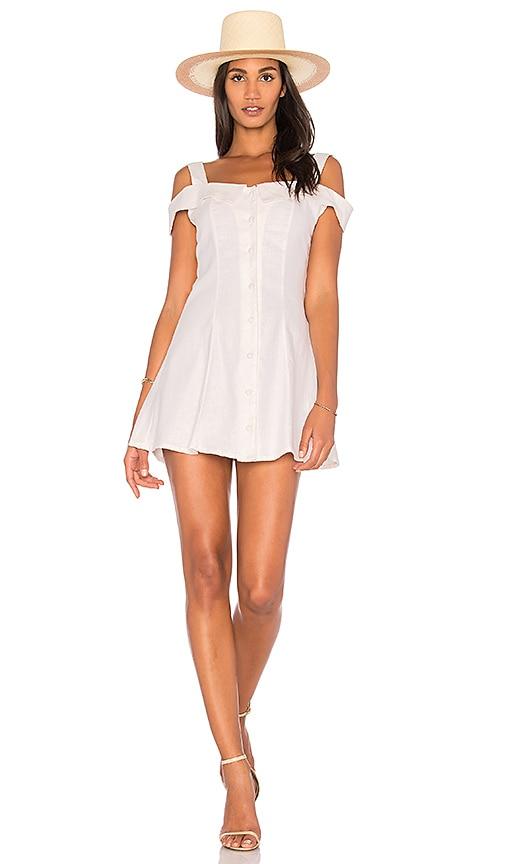 TROIS Georgina Button Dress in Cream