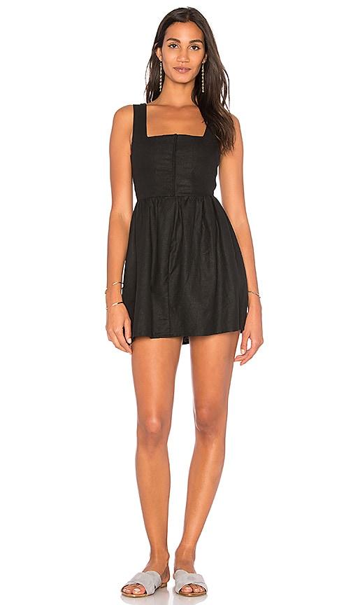 TROIS Sasha Mini Dress in Black