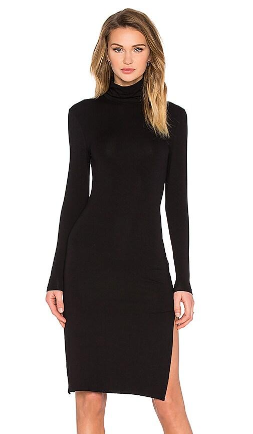 TROIS Mulder Turtleneck Dress in Black