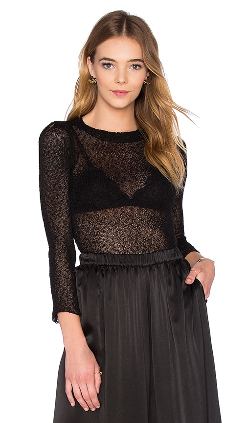 TROIS Hall Top in Black
