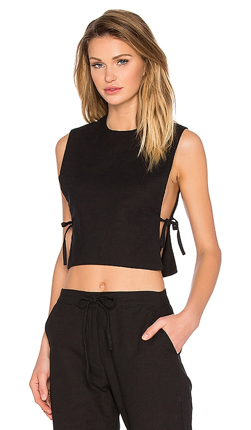 TROIS Esther Crop Top in Black