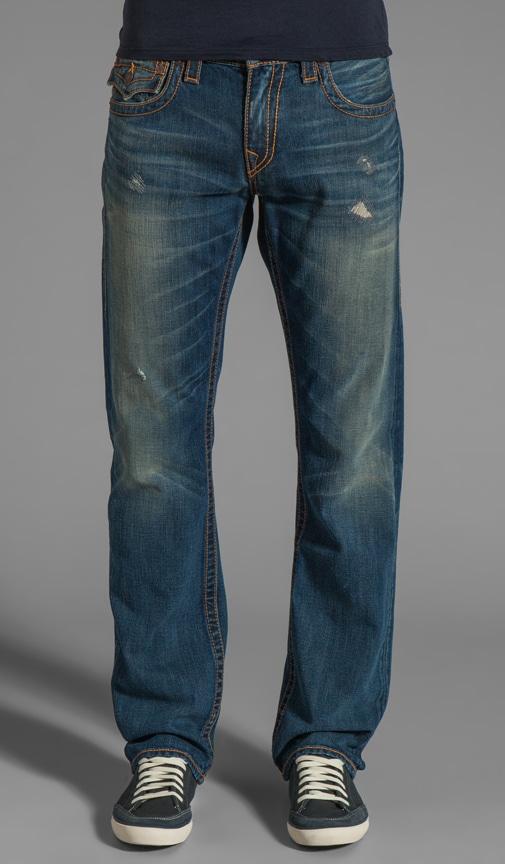 Ricky Studded Logo Straight Leg