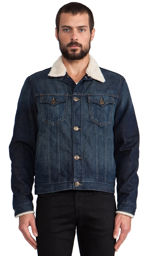 Wayne Faux Sherpa Lined Denim Jacket