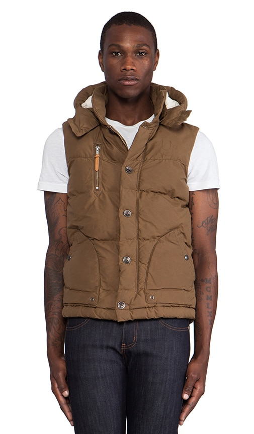 Waxed Canvas Puffer Vest