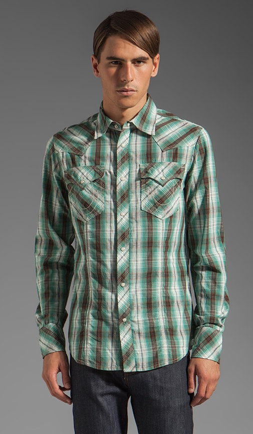Plaid Poplin Rocky Western Shirt