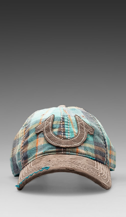 Plaid Flannel Baseball Cap