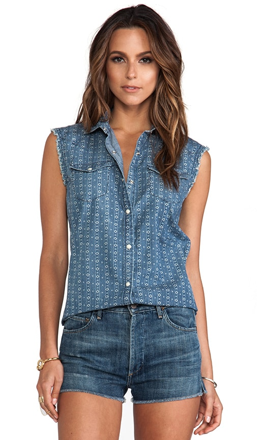 Sleeveless New Georgia Woven Shirt