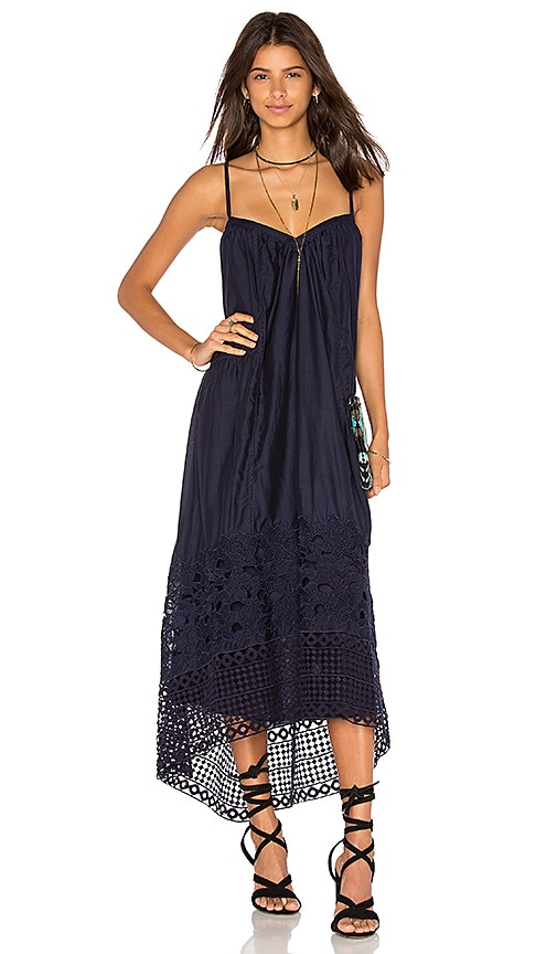 TRYB212 Tula Maxi Dress in Dune Ink Blue