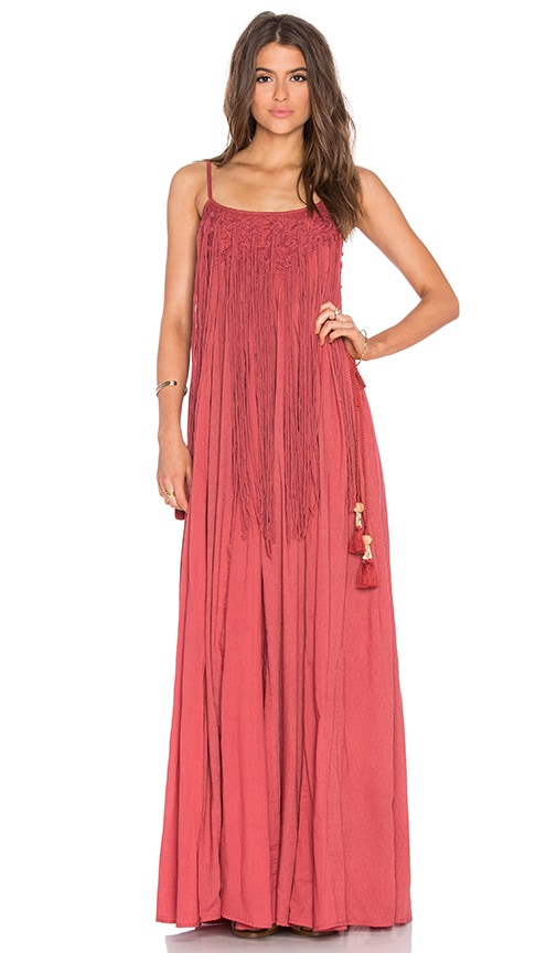 TRYB212 Stila Maxi Dress in Rust