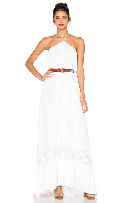 TRYB212 Saara Maxi Dress in White