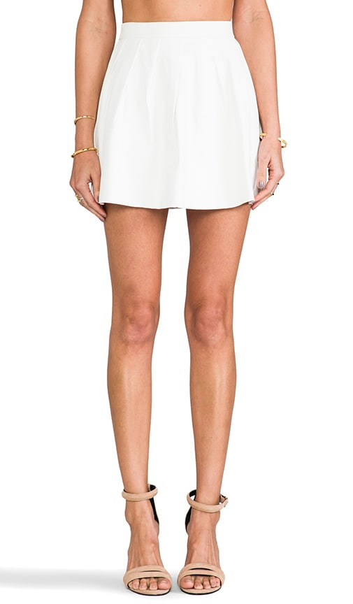 Strike Plain Leather Mini Skirt