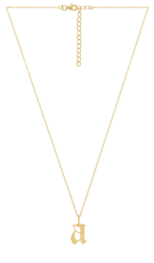 THE M JEWELERS NY The Old English Pendant in Metallic Gold