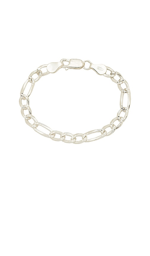 The M Jewelers NY The Figaro Link Bracelet in Silver