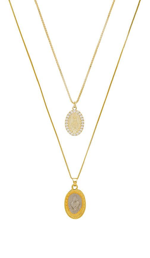x REVOLVE Medal Set Necklace