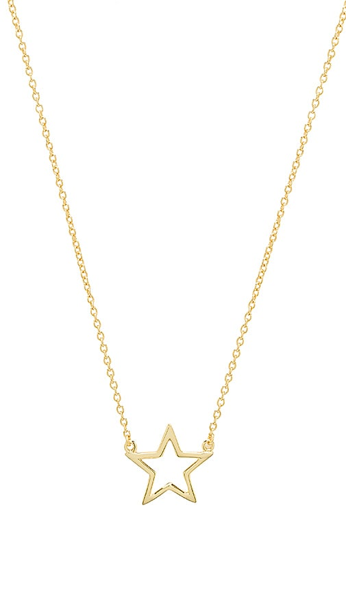The M Jewelers NY The Star Cut Out Necklace in Metallic Gold