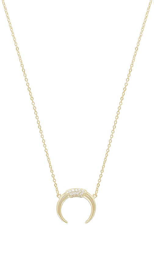 The Pave Horn Necklace by The M Jewelers Ny