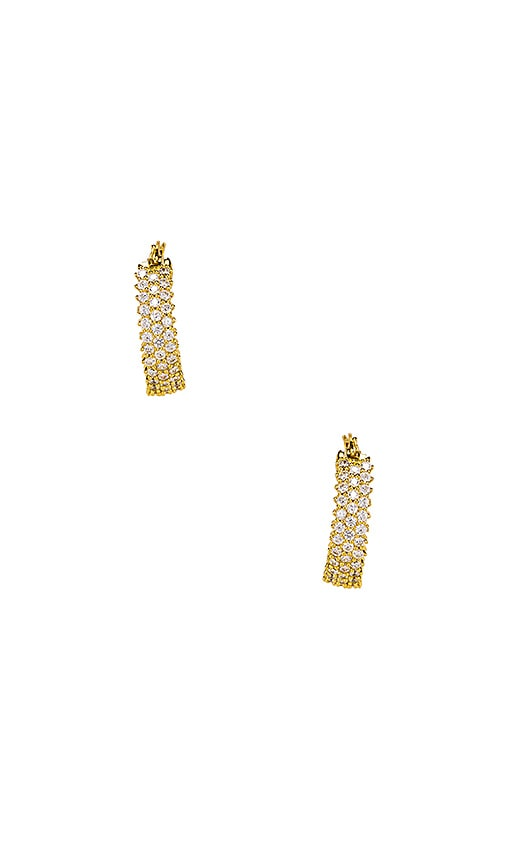 The Three Row Pave Hoops