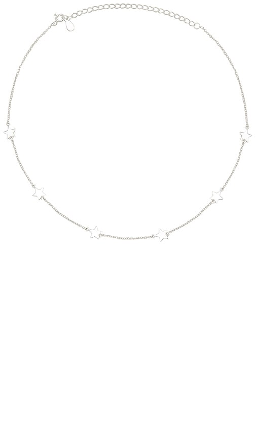 The M Jewelers NY The Dainty Star Choker in Metallic Silver