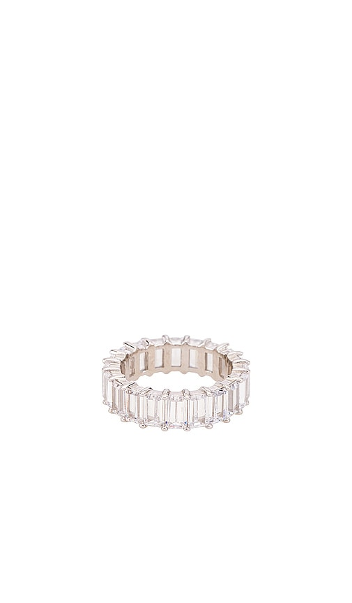 The Emerald Cut Pave Ring