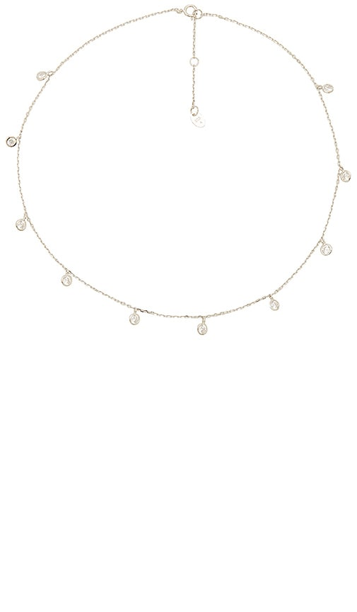 The M Jewelers NY The Dainty Bezel Choker in Metallic Silver