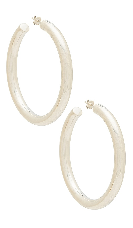 THE M JEWELERS NY The Thick Hoop Earrings in Metallic Silver