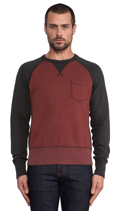 Contrast Sleeve Pocket Sweatshirt