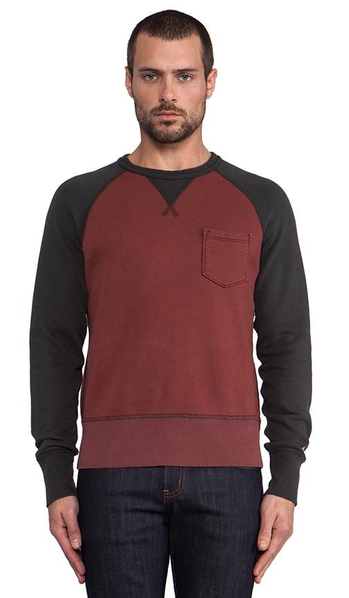 Contrast Sleeve Pocket Sweatshirt
