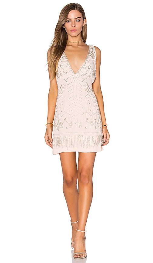 Tessora Embellished Cocktail Dress in Pink