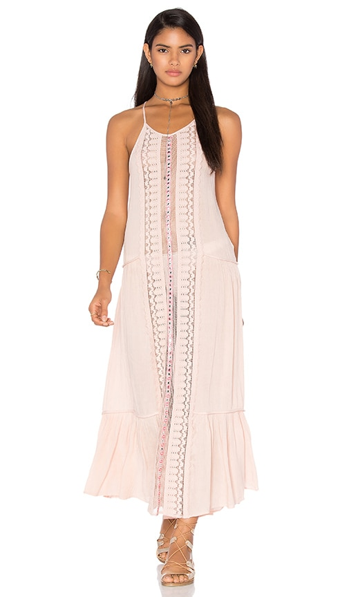 Tessora Embellished Maxi Dress in Nude