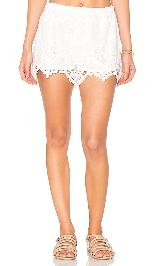 Tessora Embroidered Shorts in White
