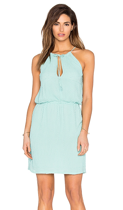 Tessora Halter Tie Waist Mini Dress in Mint