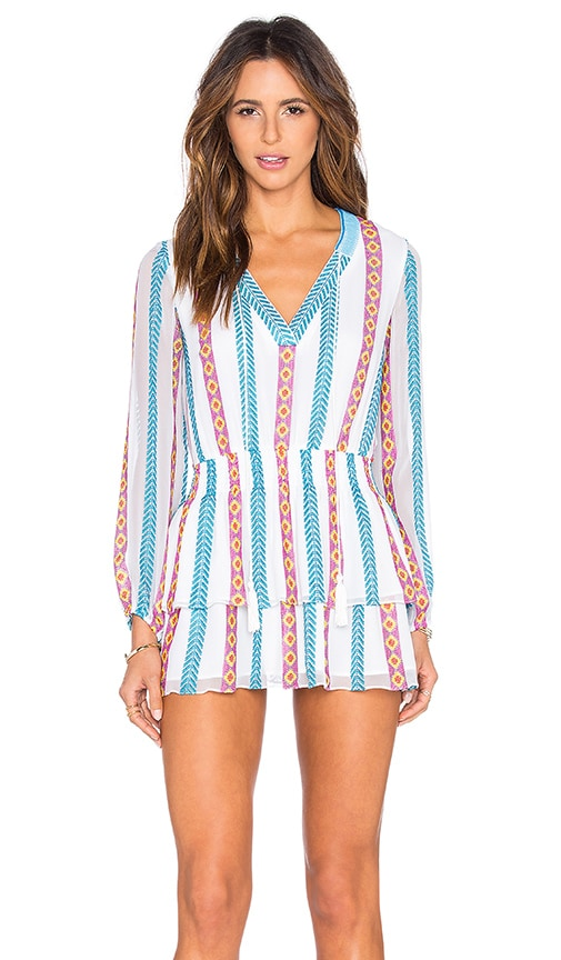 Tessora Boho Mini Dress in White