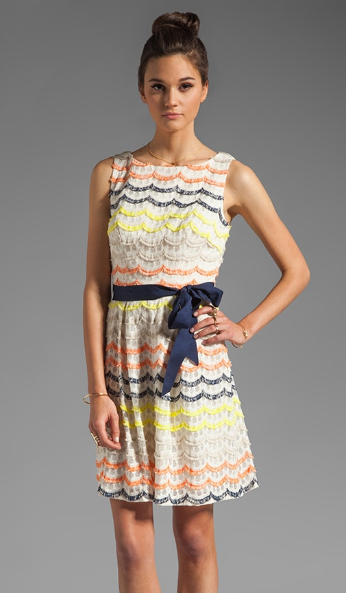 Scallop Fringe Lace Heights Dress