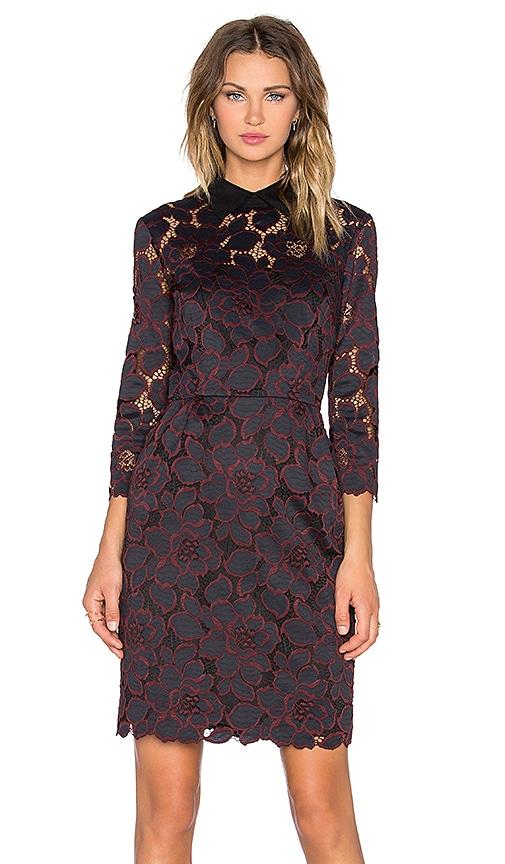 Trina Turk Killian Mini Dress in Black & Brandywine