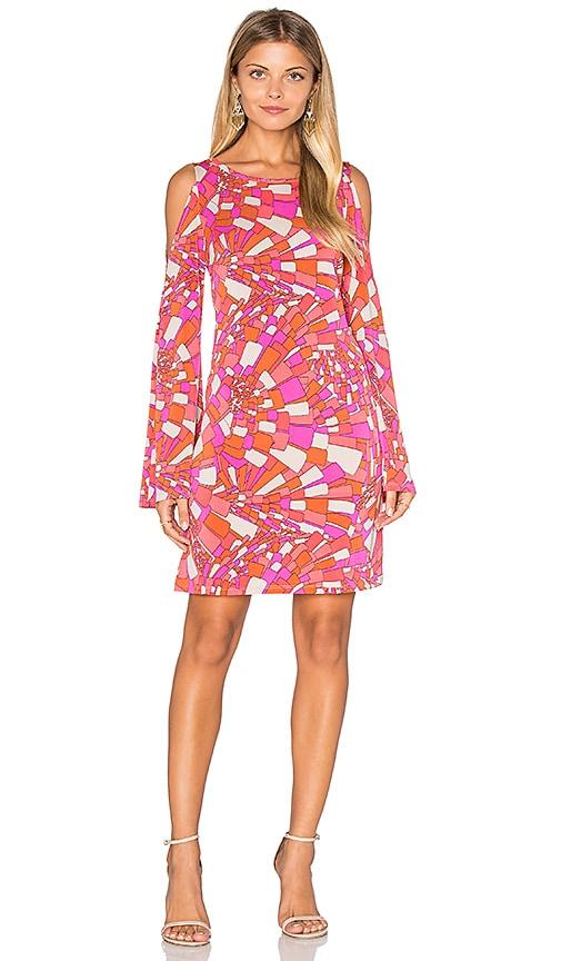 Trina Turk Deon Cold Shoulder Dress in Pink