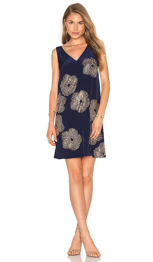 Trina Turk Glitterati Dress in Navy