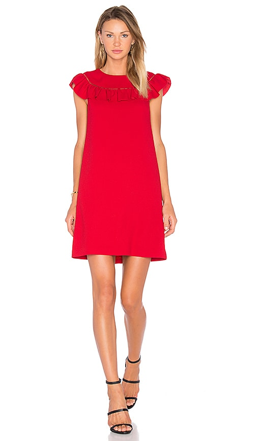 Trina Turk Ruffle Dress in Red