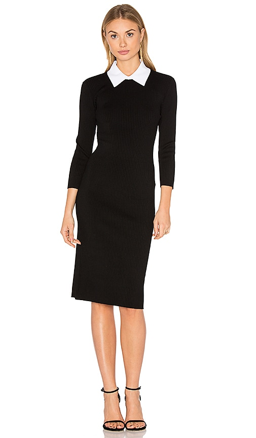 Trina Turk Bookish Sweater Dress in Black & White