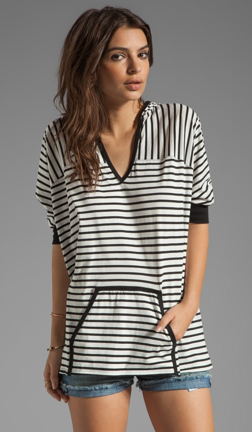 Surfin' Stripe Hooded Poncho