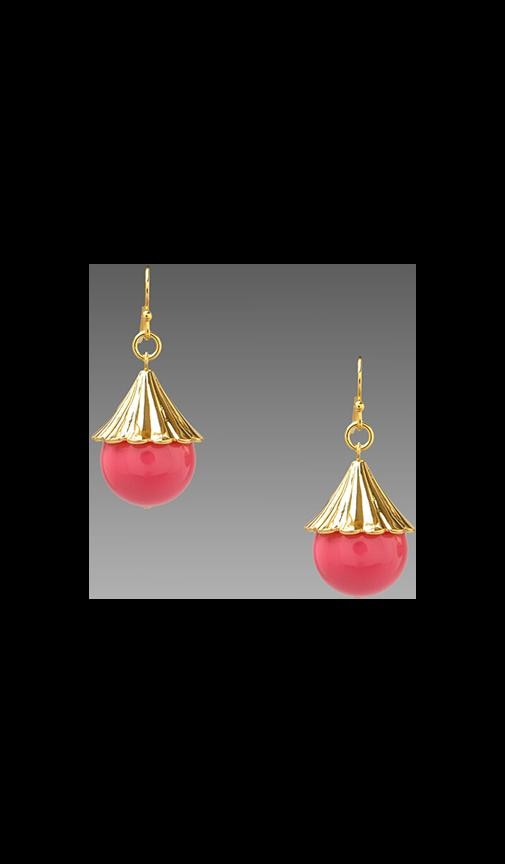 Fluted Cap Drop Earring