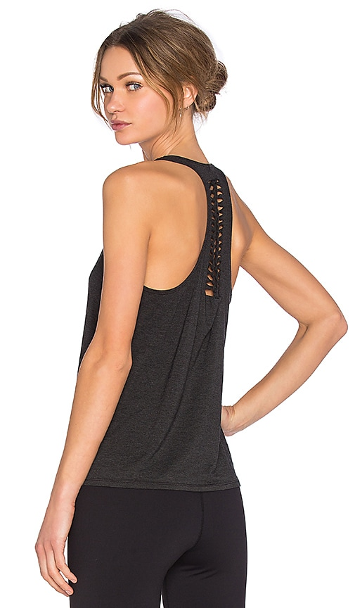Trina Turk Draped Jersey Tank in Black
