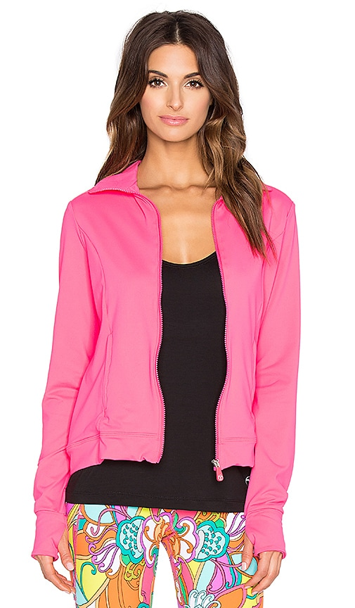 Trina Turk Zip Up Jacket in Pink