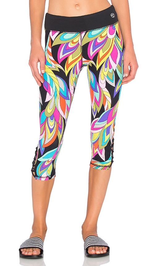 Trina Turk Copa Cabana Crop Legging in Black
