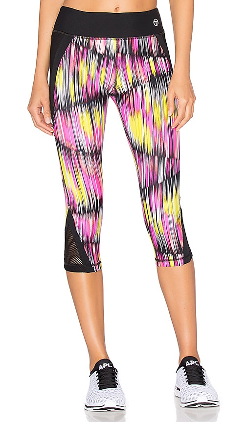 Trina Turk Digikat Crop Legging in Pink