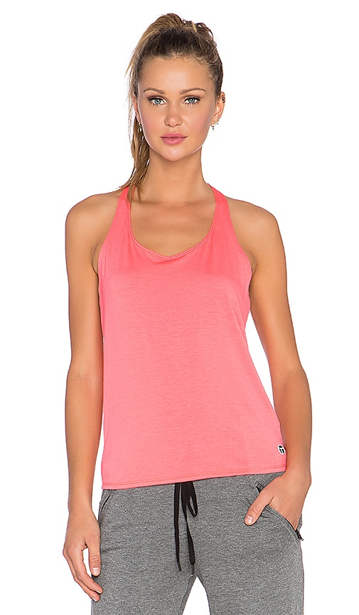 Trina Turk Drape Back Tank in Tigerlily