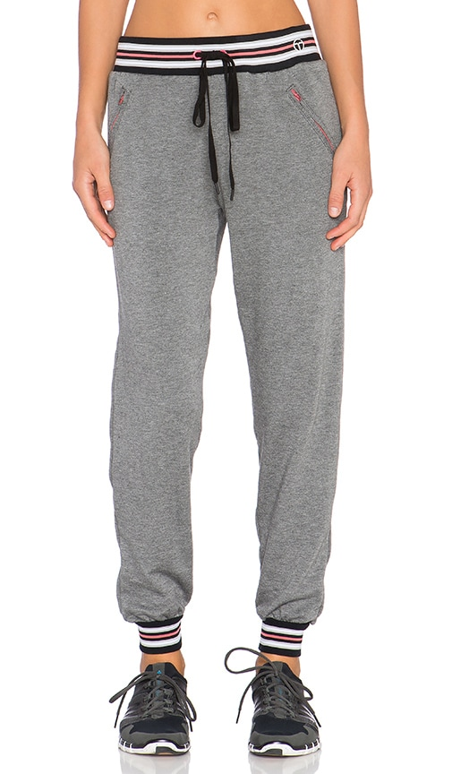 Trina Turk Fleece Jogger Pant in Grey