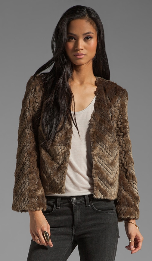 Chevron Faux Fur Heavenly Coat